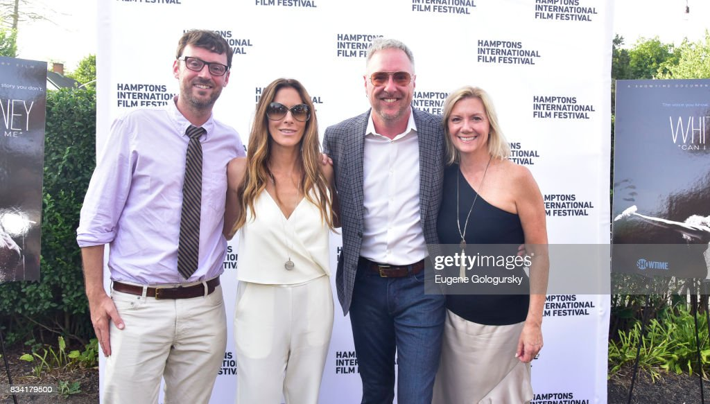 David Nugent, Cristina Cuomo, Ian Duke, and Anne Chaisson attend the The Hamptons International Film Festival SummerDocs Series Screening of WHITNEY. 'CAN I BE ME' at UA Southampton 4 Theatres on August 17, 2017 in Southampton, New York.