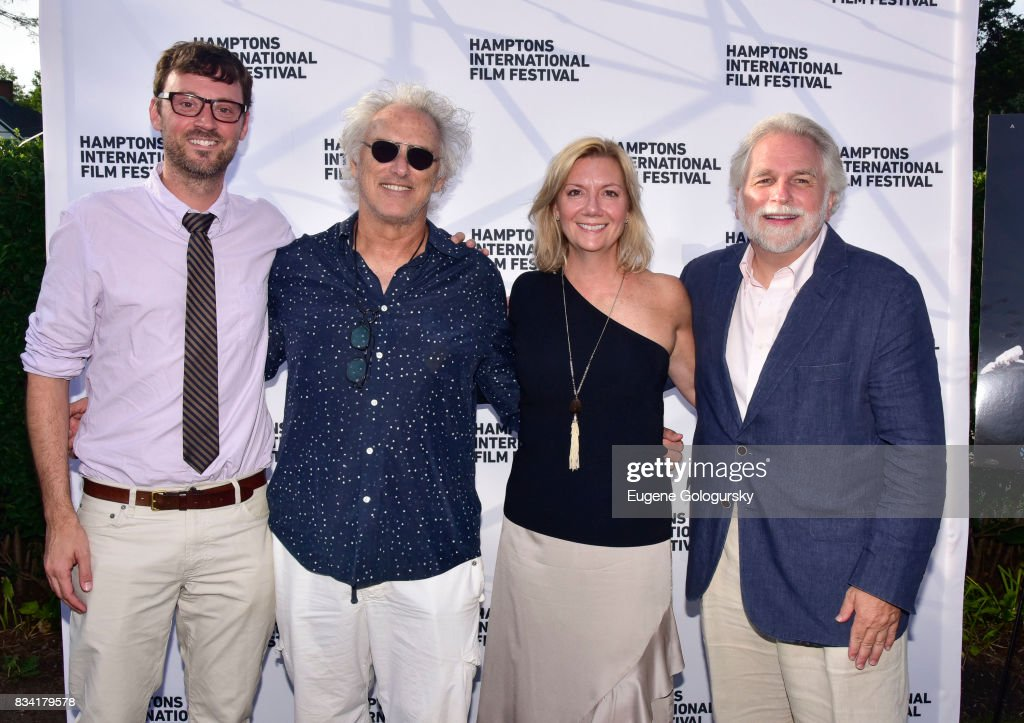 David Nugent, Eric Fischl, Anne Chaisson and Randy Mastro attend the The Hamptons International Film Festival SummerDocs Series Screening of WHITNEY. 'CAN I BE ME' at UA Southampton 4 Theatres on August 17, 2017 in Southampton, New York.