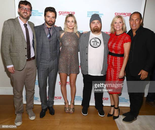 David Nugent Sebastian Stan Margot Robbie Paul Walter Hauser Anne Chaisson and Stuart Match Suna attend the red carpet for ' I Tonya' at Guild Hall...
