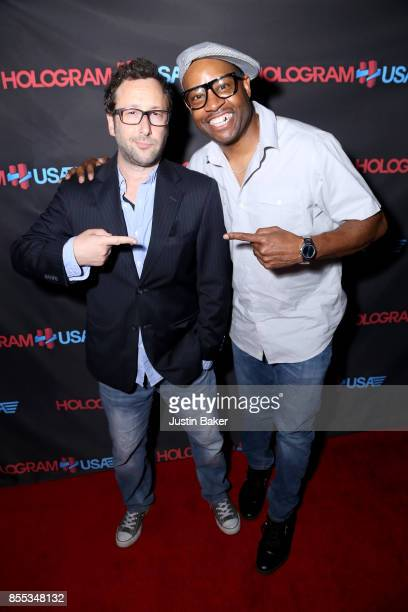 David Nussbaum and Dana Dane attend Hologram USA's Gala Preview at Hologram USA Theater on September 28 2017 in Los Angeles California