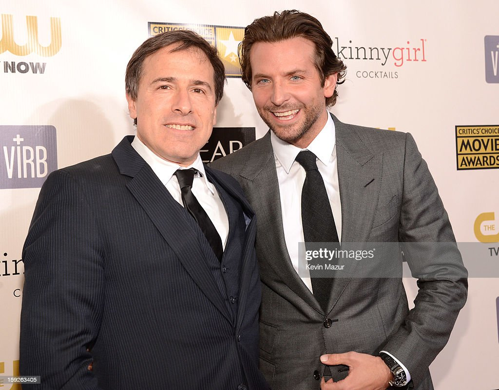 David O Russel and <a gi-track='captionPersonalityLinkClicked' href=/galleries/search?phrase=Bradley+Cooper&family=editorial&specificpeople=680224 ng-click='$event.stopPropagation()'>Bradley Cooper</a> attend the 18th Annual Critics' Choice Movie Awards at The Barker Hanger on January 10, 2013 in Santa Monica, California.