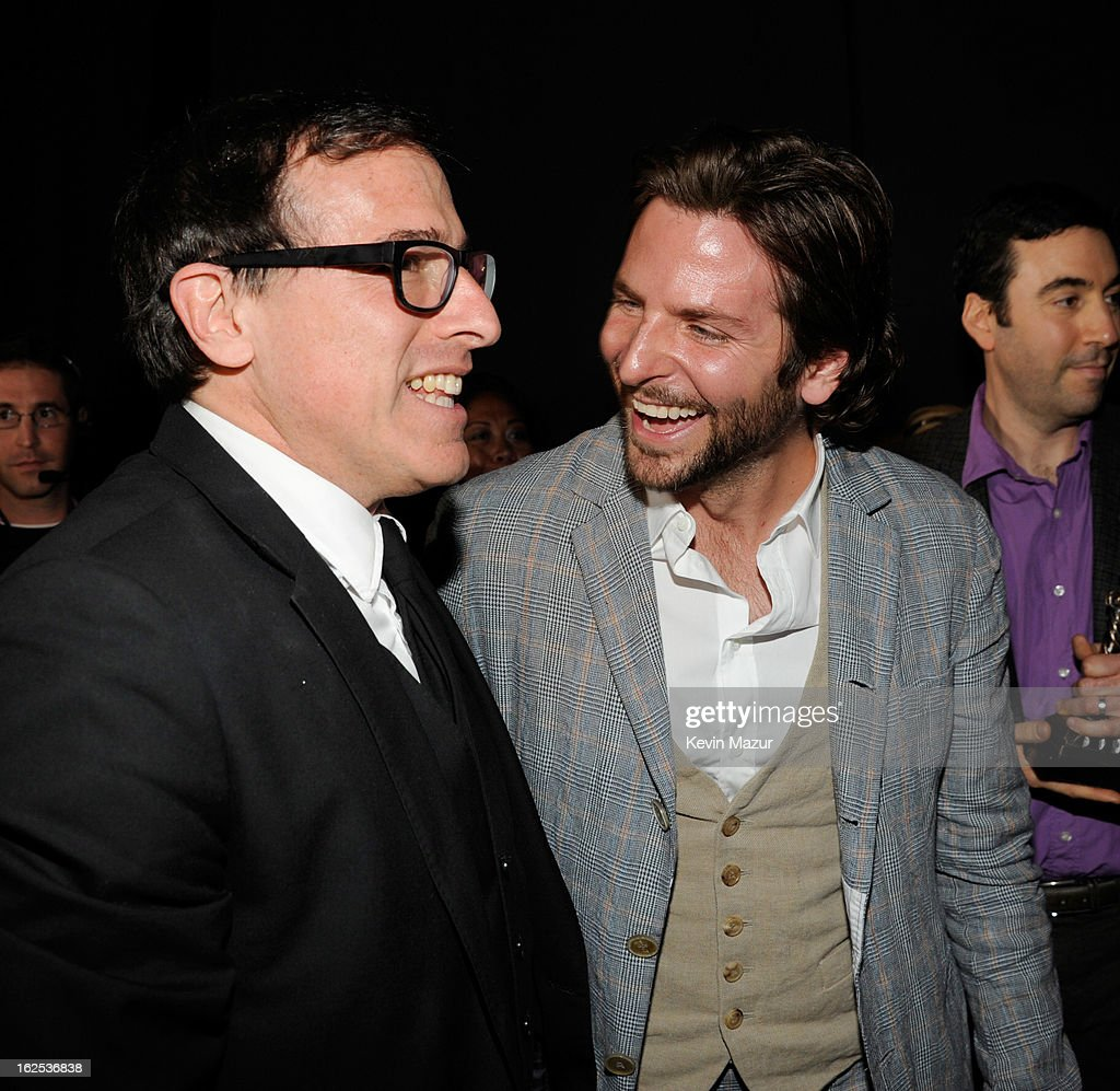 David O Russell and <a gi-track='captionPersonalityLinkClicked' href=/galleries/search?phrase=Bradley+Cooper&family=editorial&specificpeople=680224 ng-click='$event.stopPropagation()'>Bradley Cooper</a> attend the 2013 Film Independent Spirit Awards at Santa Monica Beach on February 23, 2013 in Santa Monica, California.