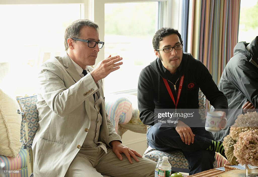 <a gi-track='captionPersonalityLinkClicked' href=/galleries/search?phrase=David+O.+Russell&family=editorial&specificpeople=215306 ng-click='$event.stopPropagation()'>David O. Russell</a> and Eric Kohn attend The 18th Annual Nantucket Film Festival on June 29, 2013 in Nantucket, Massachusetts.