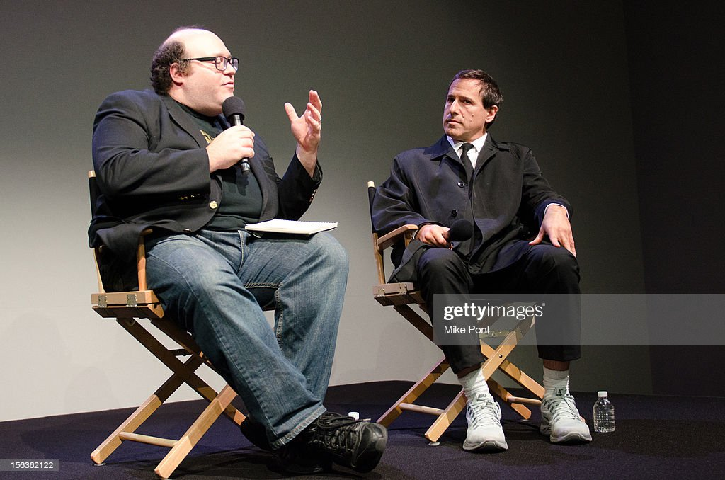 <a gi-track='captionPersonalityLinkClicked' href=/galleries/search?phrase=David+O.+Russell&family=editorial&specificpeople=215306 ng-click='$event.stopPropagation()'>David O. Russell</a> (R) attends Meet The Filmmaker: 'Silver Linings Playbook' at the Apple Store Soho on November 13, 2012 in New York City.