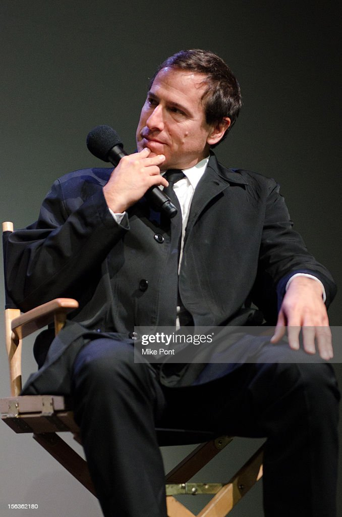 <a gi-track='captionPersonalityLinkClicked' href=/galleries/search?phrase=David+O.+Russell&family=editorial&specificpeople=215306 ng-click='$event.stopPropagation()'>David O. Russell</a> attends Meet The Filmmaker: 'Silver Linings Playbook' at the Apple Store Soho on November 13, 2012 in New York City.