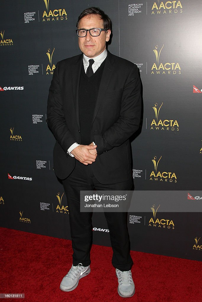 <a gi-track='captionPersonalityLinkClicked' href=/galleries/search?phrase=David+O.+Russell&family=editorial&specificpeople=215306 ng-click='$event.stopPropagation()'>David O. Russell</a> attends the 2nd AACTA International Awards at Soho House on January 26, 2013 in West Hollywood, California.
