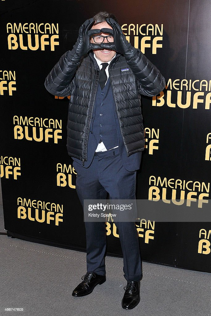 <a gi-track='captionPersonalityLinkClicked' href=/galleries/search?phrase=David+O.+Russell&family=editorial&specificpeople=215306 ng-click='$event.stopPropagation()'>David O. Russell</a> attends the 'American Bluff' Paris Premiere at Cinema UGC Normandie on February 3, 2014 in Paris, France.