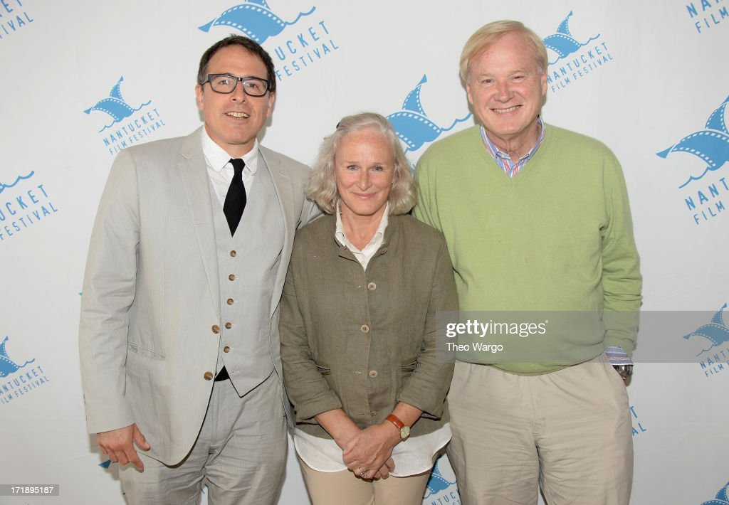 David O Russell, <a gi-track='captionPersonalityLinkClicked' href=/galleries/search?phrase=Glenn+Close&family=editorial&specificpeople=201870 ng-click='$event.stopPropagation()'>Glenn Close</a> and <a gi-track='captionPersonalityLinkClicked' href=/galleries/search?phrase=Chris+Matthews+-+Television+Personality&family=editorial&specificpeople=651505 ng-click='$event.stopPropagation()'>Chris Matthews</a> attend The 18th Annual Nantucket Film Festival on June 29, 2013 in Nantucket, Massachusetts.
