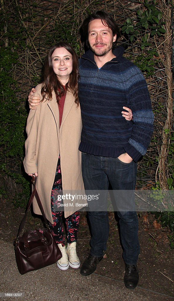David Oakes and Jennifer Kirby at a performance of 'To Kill A Mockingbird' at Regents Park Open Air Theatre on May 22, 2013 in London, England.