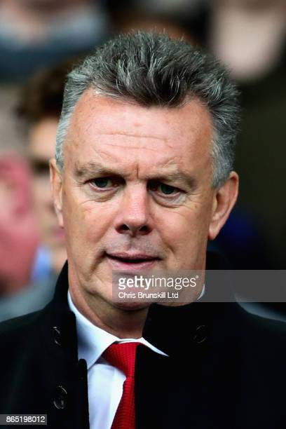 David O'Leary looks on from the crowd during the Premier League match between Everton and Arsenal at Goodison Park on October 22 2017 in Liverpool...