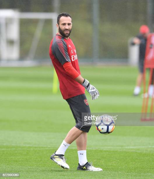 David Opsina of Arsenal during a training session at London Colney on July 26 2017 in St Albans England
