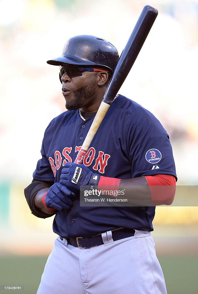 David Ortiz #34 of the Boston Red Sox bats against the Oakland Athletics at O.co Coliseum on July 12, 2013 in Oakland, California.