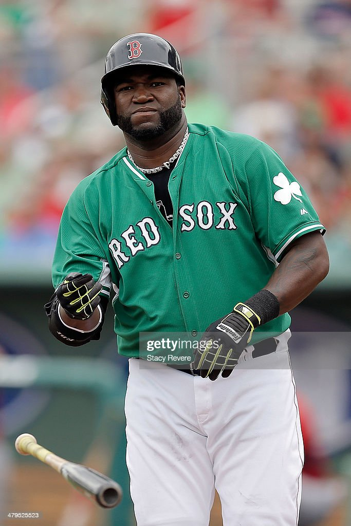 <a gi-track='captionPersonalityLinkClicked' href=/galleries/search?phrase=David+Ortiz&family=editorial&specificpeople=175825 ng-click='$event.stopPropagation()'>David Ortiz</a> #34 of the Boston Red Sox draws a walk in the second inning of a game against the St. Louis Cardinals at JetBlue Park at Fenway South on March 17, 2014 in Fort Myers, Florida. Boston won the game 10-5.