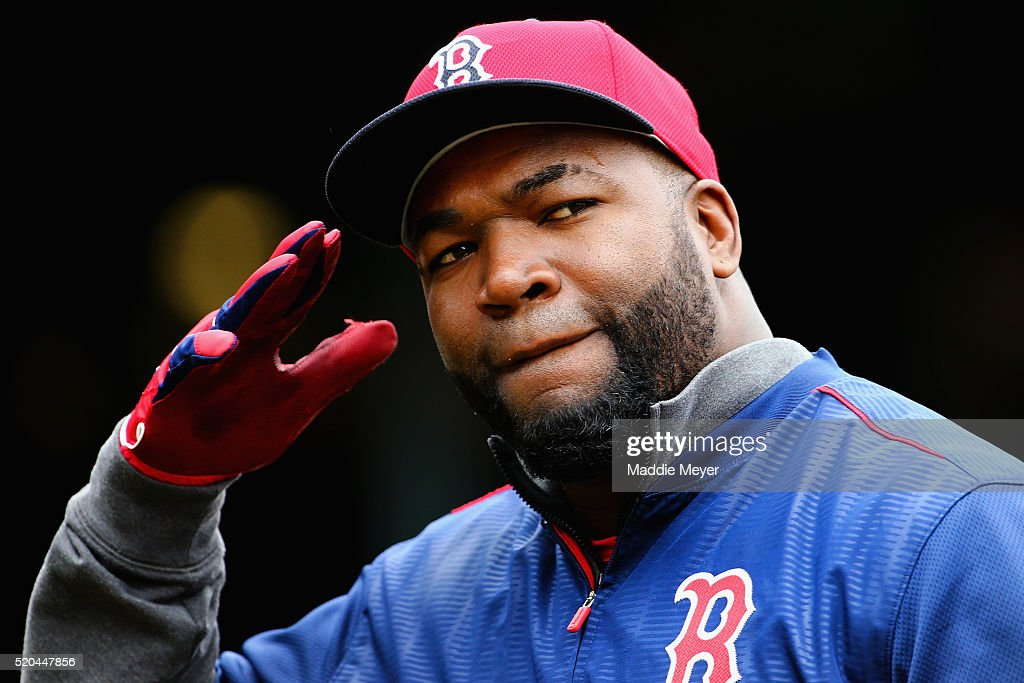 <a gi-track='captionPersonalityLinkClicked' href=/galleries/search?phrase=David+Ortiz&family=editorial&specificpeople=175825 ng-click='$event.stopPropagation()'>David Ortiz</a> #34 of the Boston Red Sox enters the dugout after batting practice before the Red Sox home opener against the Baltimore Orioles at Fenway Park on April 11, 2016 in Boston, Massachusetts.