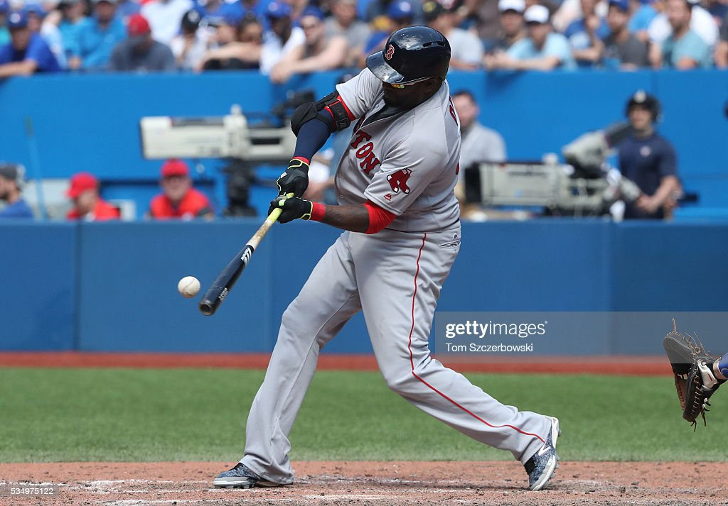 <a gi-track='captionPersonalityLinkClicked' href=/galleries/search?phrase=David+Ortiz&family=editorial&specificpeople=175825 ng-click='$event.stopPropagation()'>David Ortiz</a> #34 of the Boston Red Sox hits a solo home run in the ninth inning during MLB game action against the Toronto Blue Jays on May 28, 2016 at Rogers Centre in Toronto, Ontario, Canada.