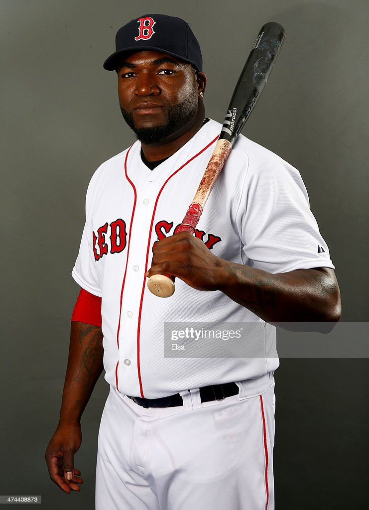 David Ortiz #34 of the Boston Red Sox poses for a portrait during Boston Red Sox Photo Day on February 23, 2014 at JetBlue Park in Fort Myers, Florida.