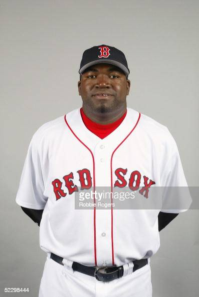 David Ortiz of the Boston Red Sox poses for a portrait during photo day at City of Palms Park on February 26 2005 in Ft Myers Florida