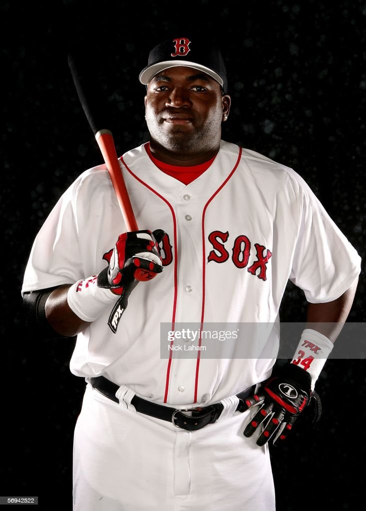 <a gi-track='captionPersonalityLinkClicked' href=/galleries/search?phrase=David+Ortiz&family=editorial&specificpeople=175825 ng-click='$event.stopPropagation()'>David Ortiz</a> of the Boston Red Sox poses for a portrait during the Boston Red Sox Photo Day at the Red Sox spring training complex on February 26, 2006 in Fort Myers, Florida.