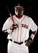 David Ortiz of the Boston Red Sox poses for a portrait during the Boston Red Sox Photo Day at the Red Sox spring training complex on February 26 2006...