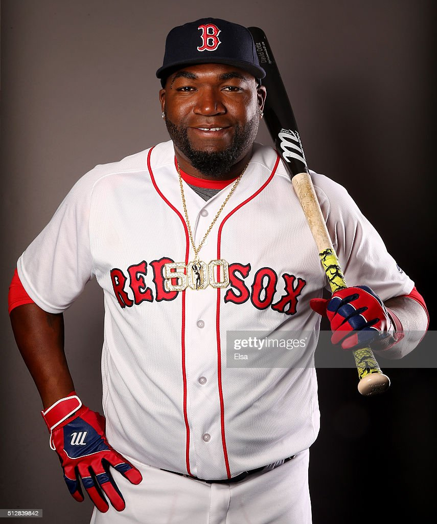 David Ortiz #34 of the Boston Red Sox poses for a portrait on February 28, 2016 at JetBlue Park in Fort Myers, Florida.