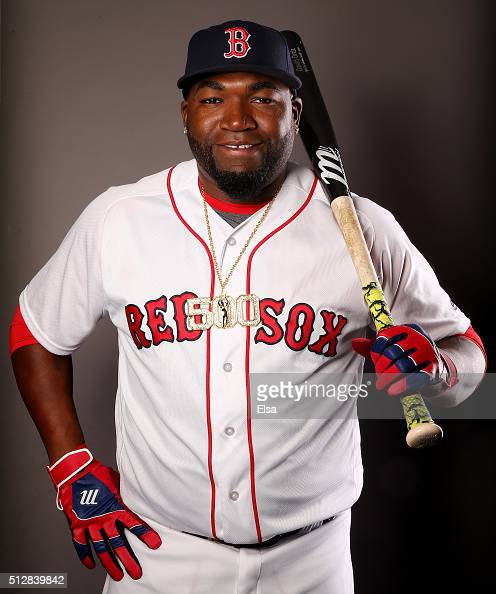David Ortiz of the Boston Red Sox poses for a portrait on February 28 2016 at JetBlue Park in Fort Myers Florida