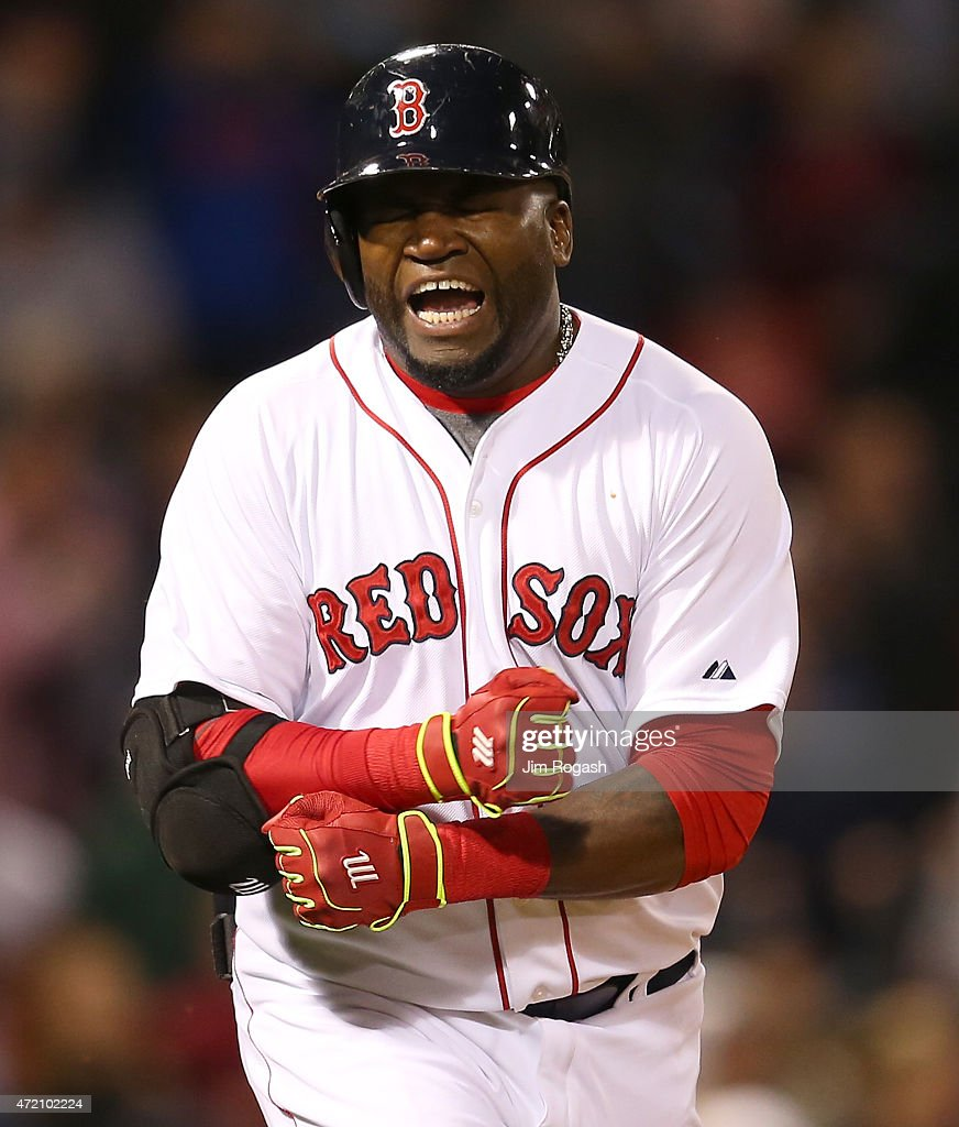 <a gi-track='captionPersonalityLinkClicked' href=/galleries/search?phrase=David+Ortiz&family=editorial&specificpeople=175825 ng-click='$event.stopPropagation()'>David Ortiz</a> #34 of the Boston Red Sox reacts after making the final out with the bases loaded in the ninth inning against the New York Yankees at Fenway Park May 3, 2015 in Boston, Massachusetts.