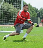 David Ospina of Arsenal during a 1st team training session at London Colney on July 23 2016 in St Albans England