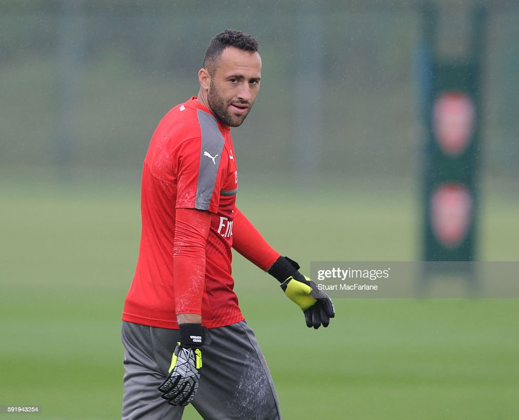 David Ospina of Arsenal during a training session at London Colney on August 19 2016 in St Albans England