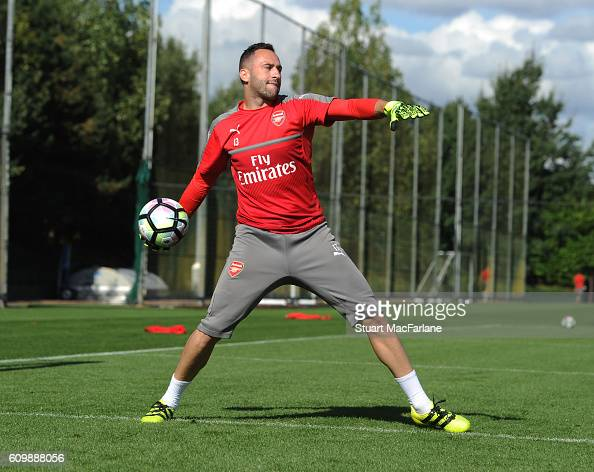 David Ospina of Arsenal during a training session at London Colney on September 23 2016 in St Albans England