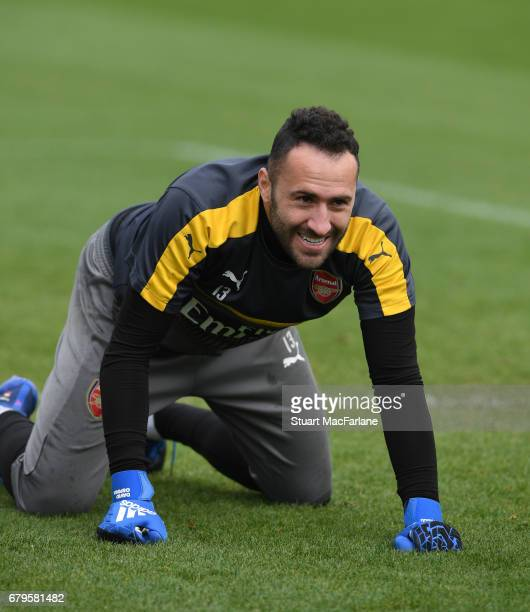 David Ospina of Arsenal during a training session at London Colney on May 6 2017 in St Albans England