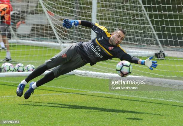David Ospina of Arsenal during a training session at London Colney on May 12 2017 in St Albans England
