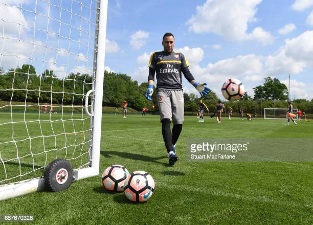 David Ospina of Arsenal during a training session at London Colney on May 24 2017 in St Albans England