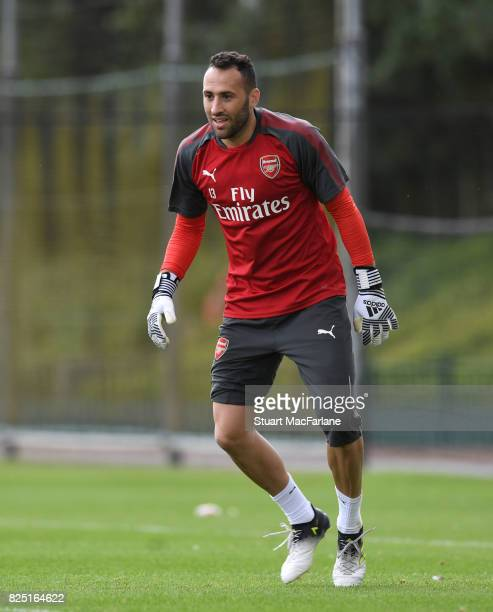 David Ospina of Arsenal during a training session at London Colney on August 1 2017 in St Albans England