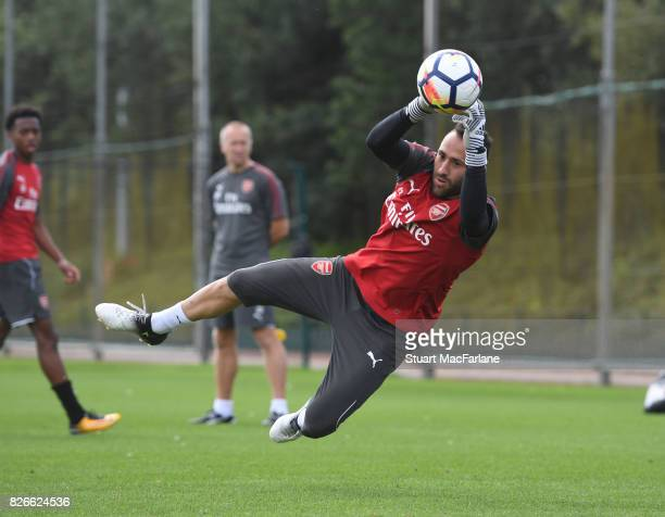 David Ospina of Arsenal during a training session at London Colney on August 5 2017 in St Albans England