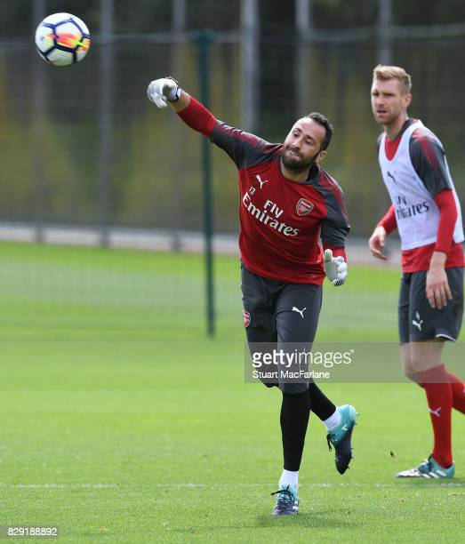 David Ospina of Arsenal during a training session at London Colney on August 10 2017 in St Albans England
