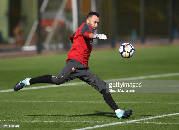 David Ospina of Arsenal during a training session at London Colney on September 24 2017 in St Albans England