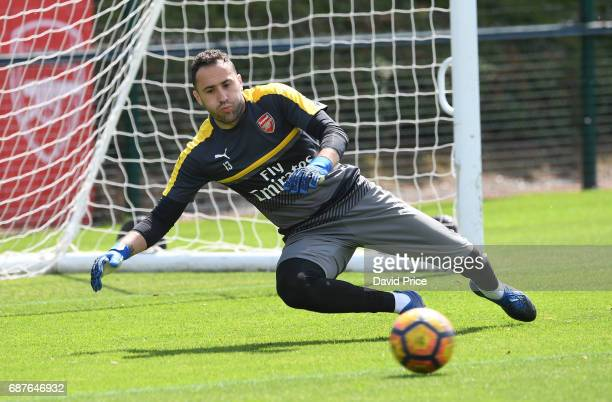 David Ospina of Arsenal during the Arsenal Training Session at London Colney on May 24 2017 in St Albans England