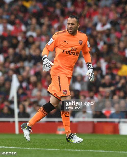 David Ospina of Arsenal during the match between Arsenal and SL Benfica at Emirates Stadium on July 29 2017 in London England