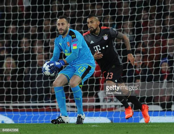 David Ospina of Arsenal during the UEFA Champions League Round of 16 second leg match between Arsenal FC and FC Bayern Muenchen at Emirates Stadium...