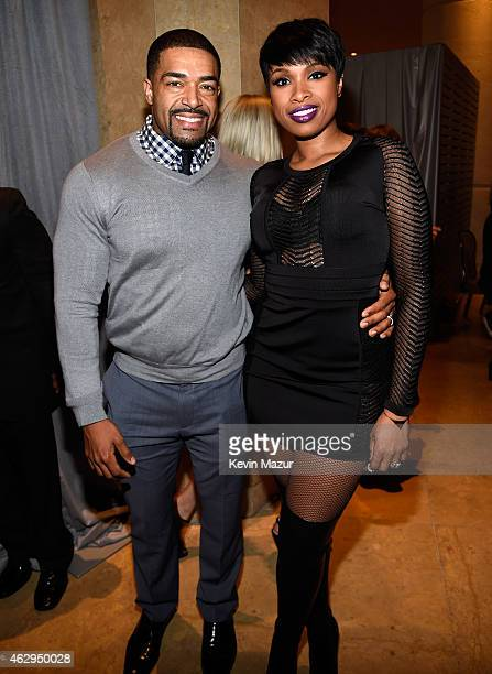 David Otunga and Jennifer Hudson attend the PreGRAMMY Gala And Salute To Industry Icons Honoring Martin Bandier at The Beverly Hilton on February 7...
