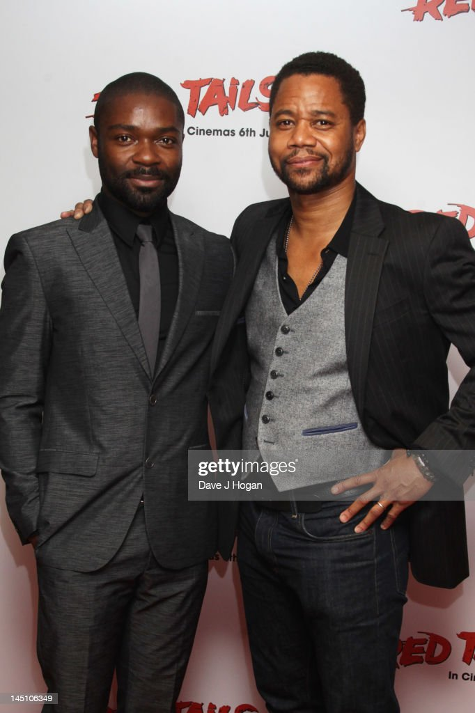 David Oyelowo and Cuba Gooding Jr attend a gala screening of Red Tails at The Mayfair Hotel on May 23 2012 in London England