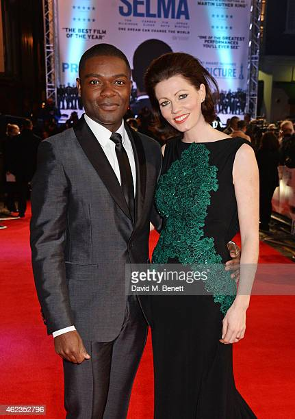 David Oyelowo and Jessica Oyelowo attend the European Premiere of 'Selma' at The Curzon Mayfair on January 27 2015 in London England