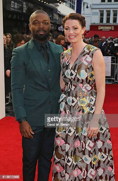 David Oyelowo and Jessica Oyelowo attend the 'Queen Of Katwe' Virgin Atlantic Gala screening during the 60th BFI London Film Festival at Odeon...