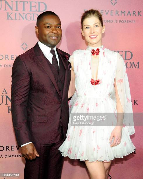 David Oyelowo and Rosamund Pike attend Forevermark Presents the World Premiere of Fox Searchlight's 'A United Kingdom' at The Paris Theatre on...