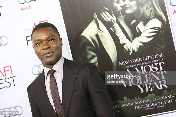 David Oyelowo arrives at AFI FEST 2014 presented by Audi opening night gala screening of 'A Most Violent Year' held at Dolby Theatre on November 6...