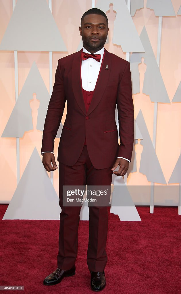 <a gi-track='captionPersonalityLinkClicked' href=/galleries/search?phrase=David+Oyelowo&family=editorial&specificpeople=633075 ng-click='$event.stopPropagation()'>David Oyelowo</a> arrives at the 87th Annual Academy Awards at Hollywood & Highland Center on February 22, 2015 in Los Angeles, California.