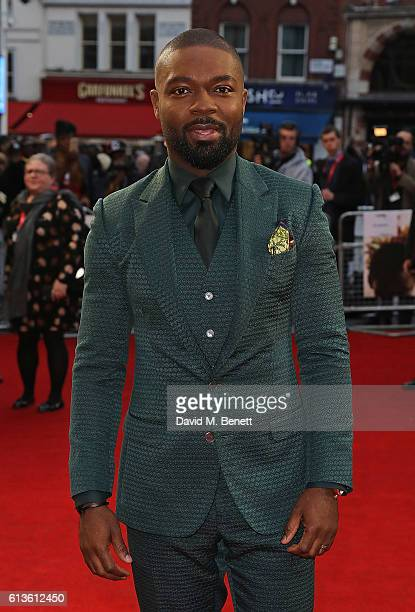 David Oyelowo attends the 'Queen Of Katwe' Virgin Atlantic Gala screening during the 60th BFI London Film Festival at Odeon Leicester Square on...