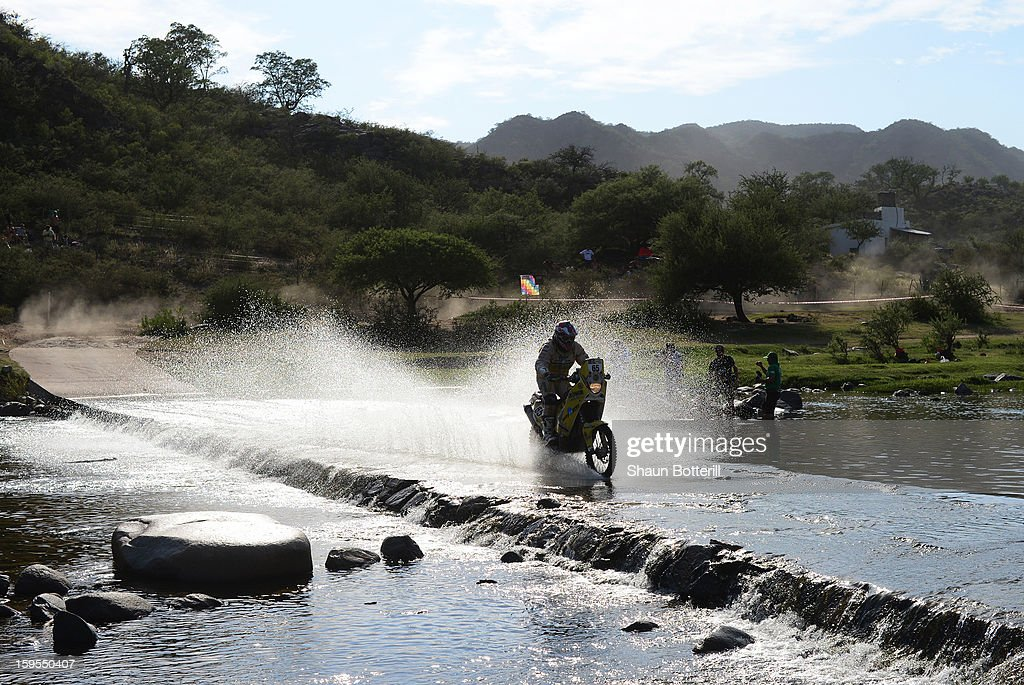David Pabiska of Km Racing Team competes in stage 10 from Cordoba to La Rioja during the 2013 Dakar Rally on January 15, 2013 in Cordoba, Argentina.