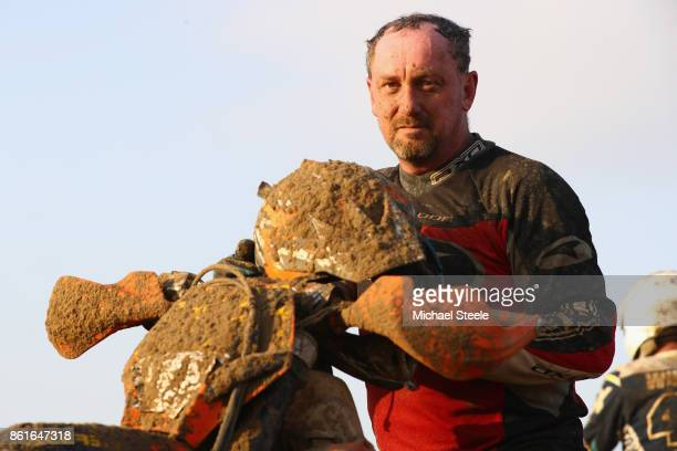 David Paget poses for a portrait following the Adult Solo Race during day two of the HydroGarden Weston Beach Race on October 15 2017 in...