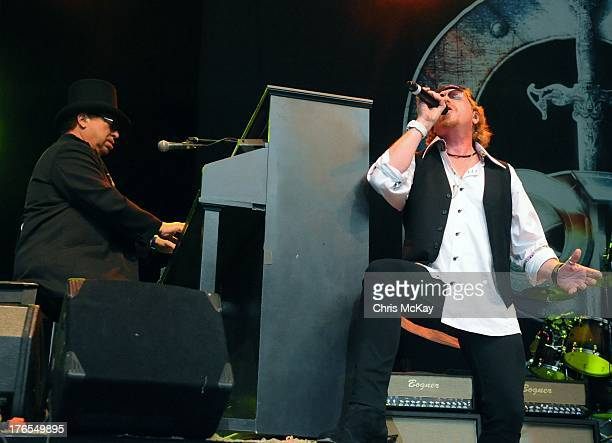 David Paich and Joseph Williams of Toto perform at Chastain Park Amphitheater on August 14 2013 in Atlanta Georgia